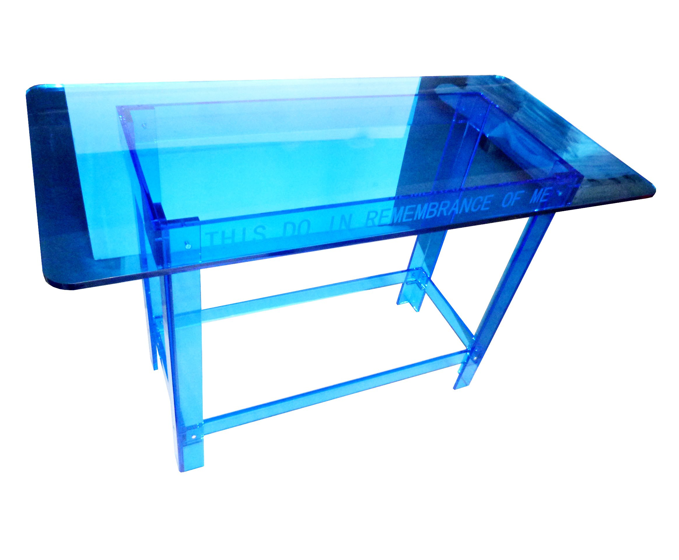 Fixture Displays Blue Tinted Plexiglass Acrylic Church Communion Christian Table Desk 14309 14309! by FixtureDisplays