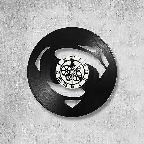 Horloge Murale En Vinyle 33 Tours Fait Mainthème Superman