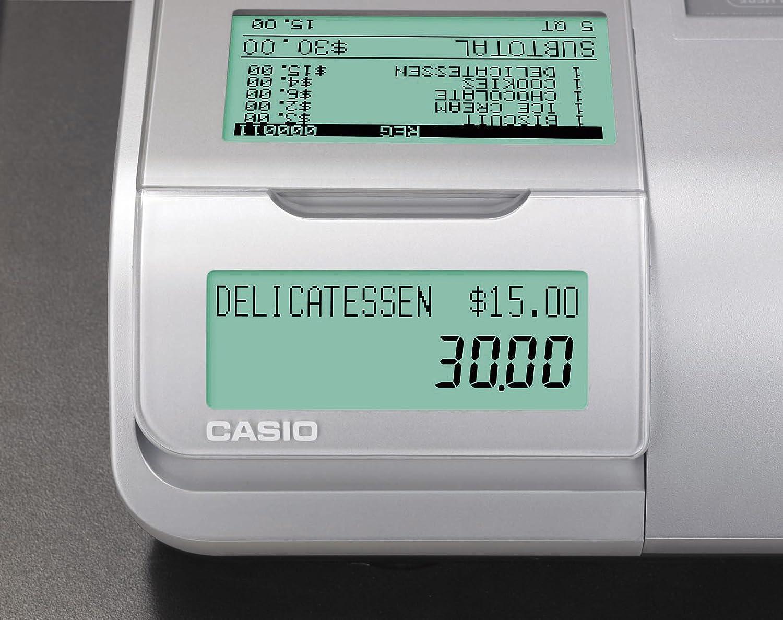 Casio SE-S400MB-SR GDPdU - Caja registradora (10 líneas en pantalla), color plateado y negro: Amazon.es: Oficina y papelería