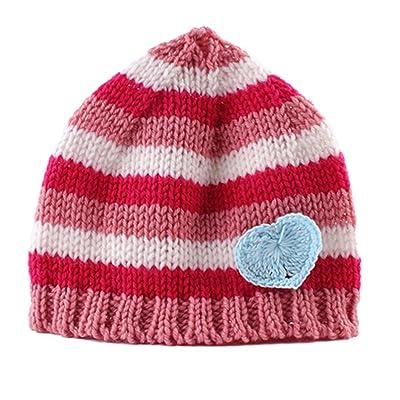 a1ccf2bb48df Tangbasi pour enfant nouveau-né bébé fille Bonnet en tricot Automne Hiver  Bébé au chaud Chapeau 4 taille unique