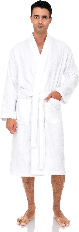 TowelSelections Men's Robe, Turkish Cotton Terry Kimono Bathrobe