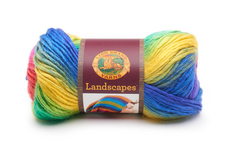 Lion Brand Yarn 545-207 Landscapes Yarn Blue Lagoon,