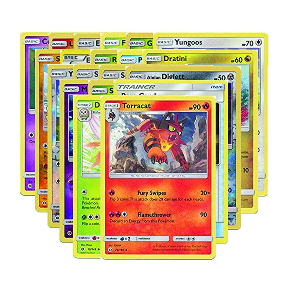 Pokemon GX Guaranteed with Booster Pack, 6 Rare Cards, 5 Holo/Reverse Holo Cards, 20 Regular Pokemon Cards, Deck Box and 1 Top Cut Central Exclusive ...