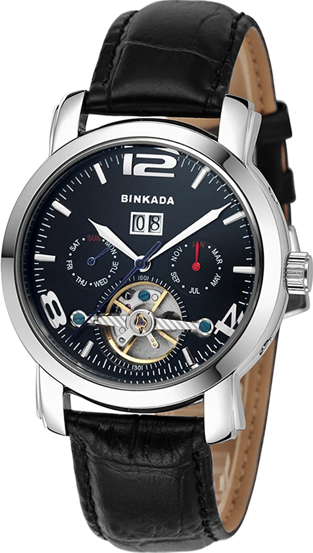 BINKADA自動機械ブラックダイヤルメンズ腕時計# 800502 – 2 B00Y6PKAKA