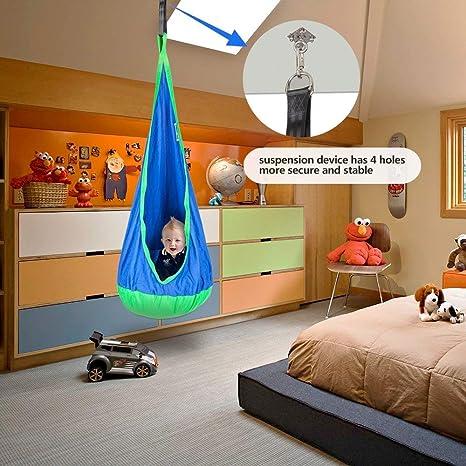 Amazon.com: JOYMOR Hamaca para niños, para interior y ...