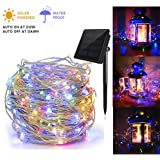 Gluckluz Solar String Lights for Indoor Outdoor Garden LED Copper Wire Lighting Fairy Decoration Lamp Waterproof for Patio Home Yard Party Wedding Festival