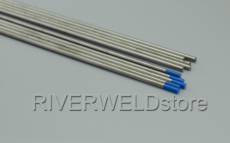 1//8 x 6 /& 3,2mmx150mm 10pk 2,0/% Lanthan/é WL20 Bleu ciel TIG /électrode de tungst/ène