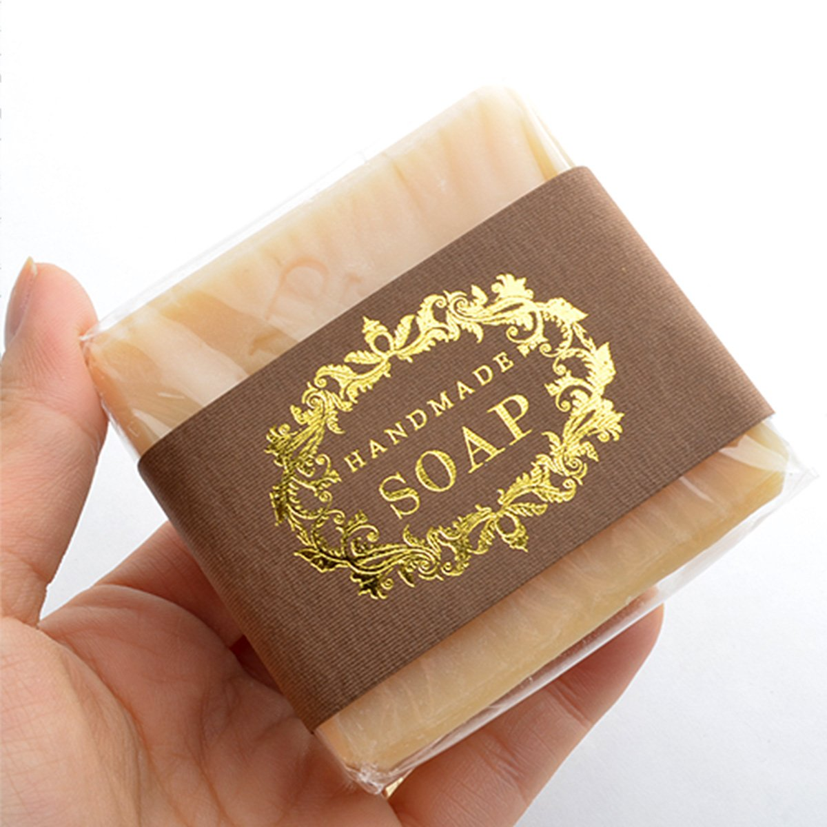 CHAWOORIM Soap Wrapping Paper Tape Labels Soap Packaging Materials for Hand Made Soap Lotion Bars Soap Bars Bath Bombs Boxes Bags 20sheets Gold Peel Hand ...