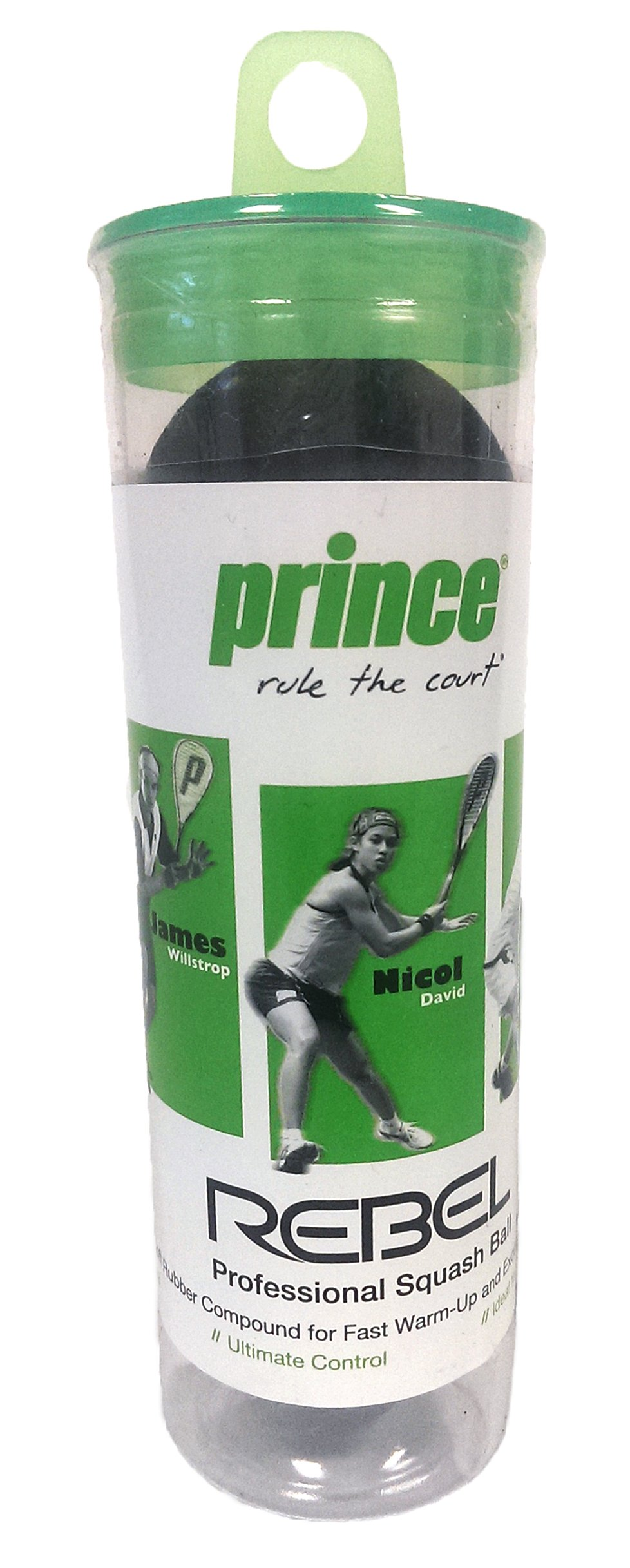 Prince Rage Double Yellow Dot, 3 ball Tube product image