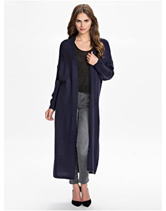 NLY Trend Women s Maxi Cardigan Dark Navy Size X-Large 78% acrylic and 22 fe1177aea