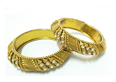 Buy R And N Fashion Trends Designer Gold Plated Stone Studded Traditional Bangle Kadaa Set Jewellery For Marriage Wedding Ceremony With Unique Design For Women And Girls At Amazon In