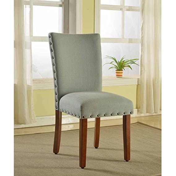 Unique HomePop Sea Foam Nail Head Parsons Chairs (Set Of 2) In Green