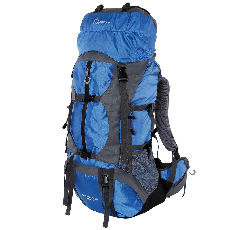 WolfWise 65L Trekking Rucksack, Waterproof Travel Backpack for ...