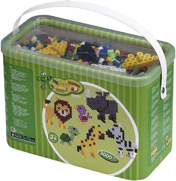 Hama Beads-8804 Cuentas y tableros en Cubo, Color Mixto (8804): Amazon.es: Juguetes y juegos