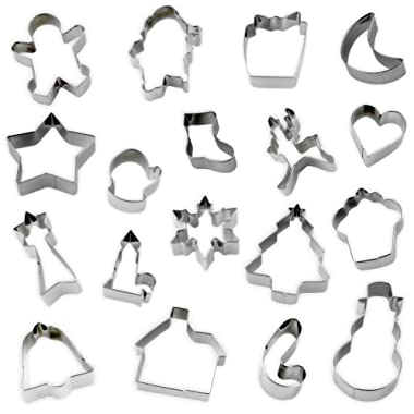 18 Piece Christmas Holiday Cookie Cutter Set – 430 Stainless Steel Made (18)
