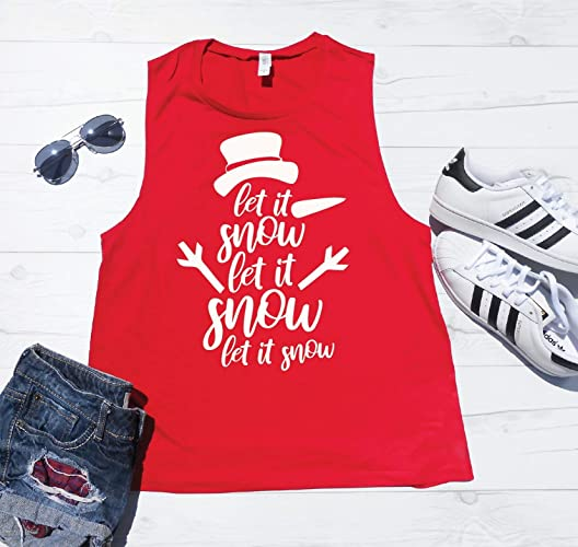 Amazon.com  Let It Snow Tank Top c5a3d76b0