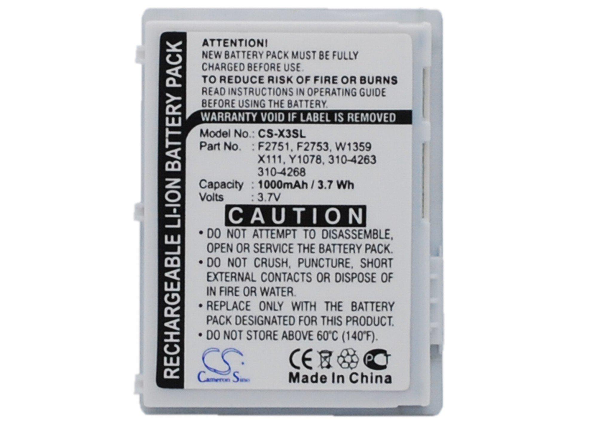 Cameron Sino 1000mAh Battery for DELL Axim X3, Axim X30, Axim X3i