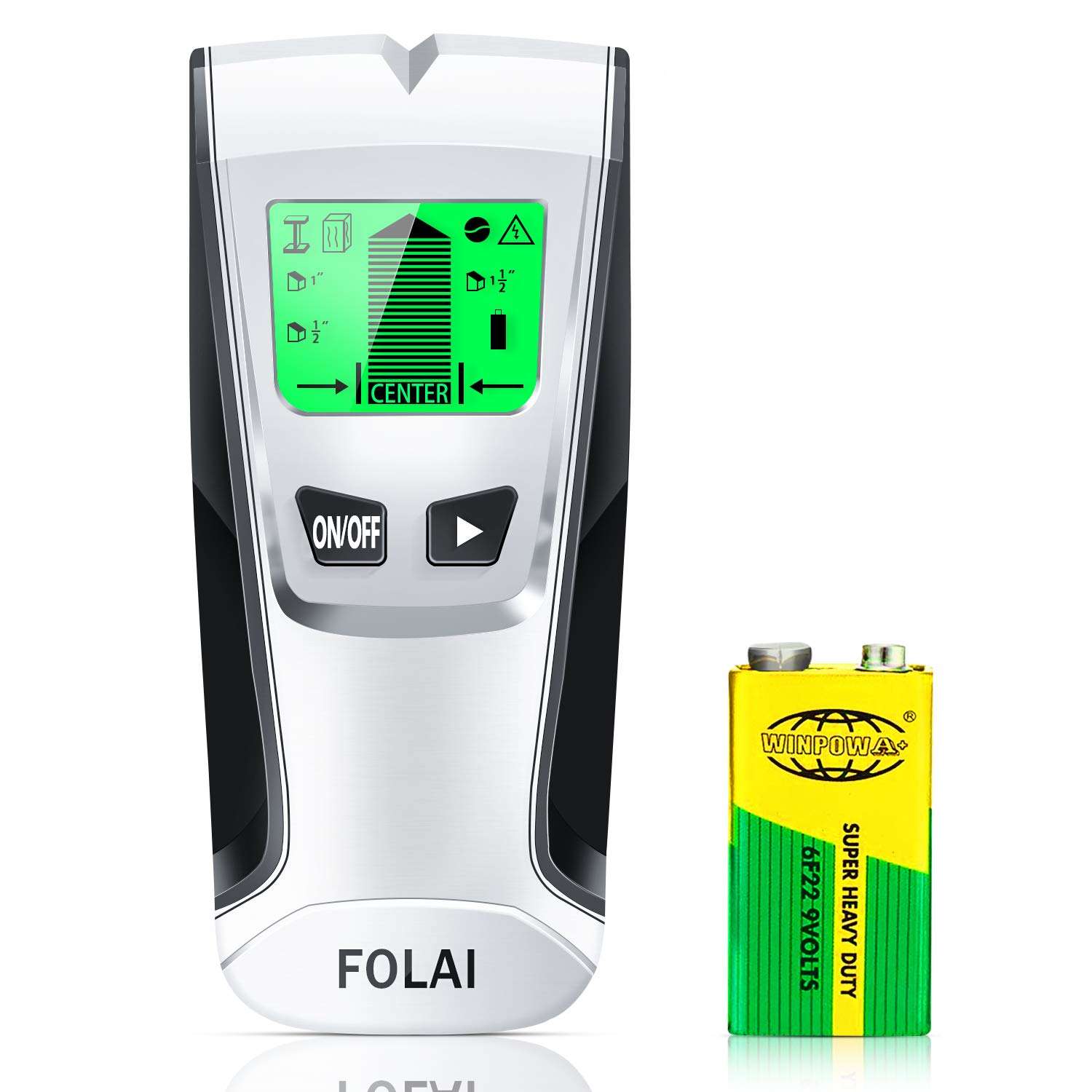 Stud Finder Sensor Wall Scanner -4 in 1 Electronic Stud Posi Tioner with Digital LCD Display,Central Positioning Stud Sensor and Sound Alarm are Display for Wood AC Wire Metal Studs Detection by FOLAI