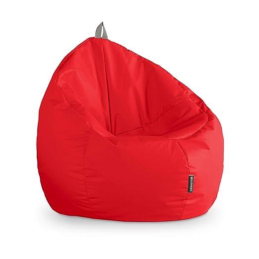 HAPPERS Puff Junior Polipiel Indoor Rojo: Amazon.es: Hogar