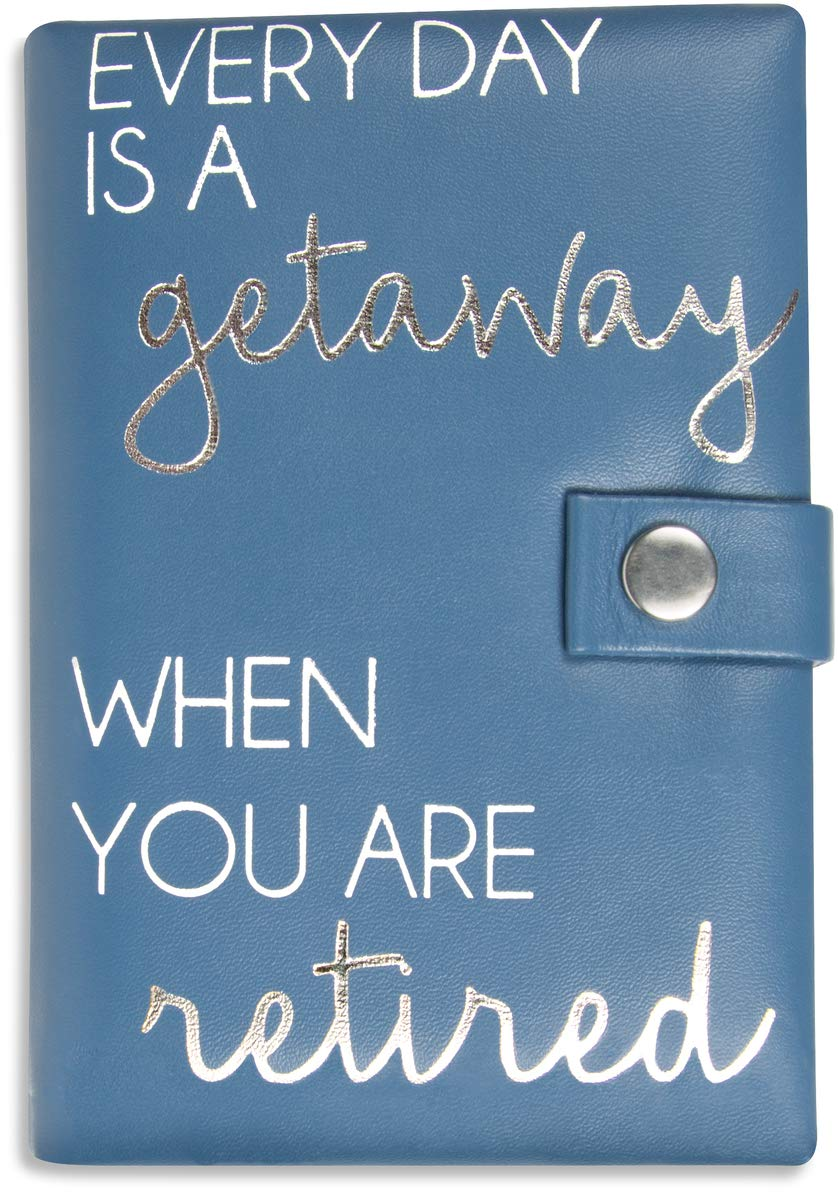 Pavilion Gift Company Everyday is A Getaway When You are Retired Jewelry Case, Blue