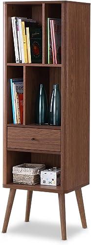 Baxton Studio FP-6785-Walnut Bookcase
