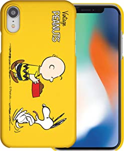 Compatible with iPhone XR Case [Slim Fit] Peanuts Thin Hard Matte Surface Excellent Grip Cover - Cute Snoopy Food