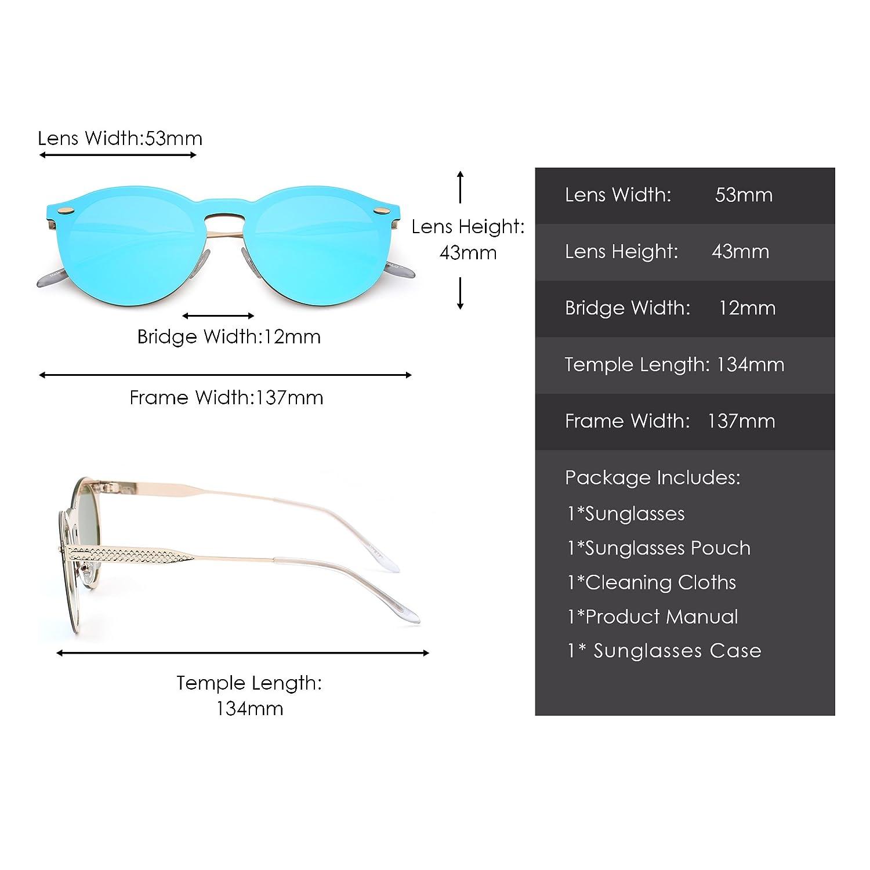 Jim Halo Gafas de Sol Polarizadas Sin Montura Una Pieza Reflexivo ...