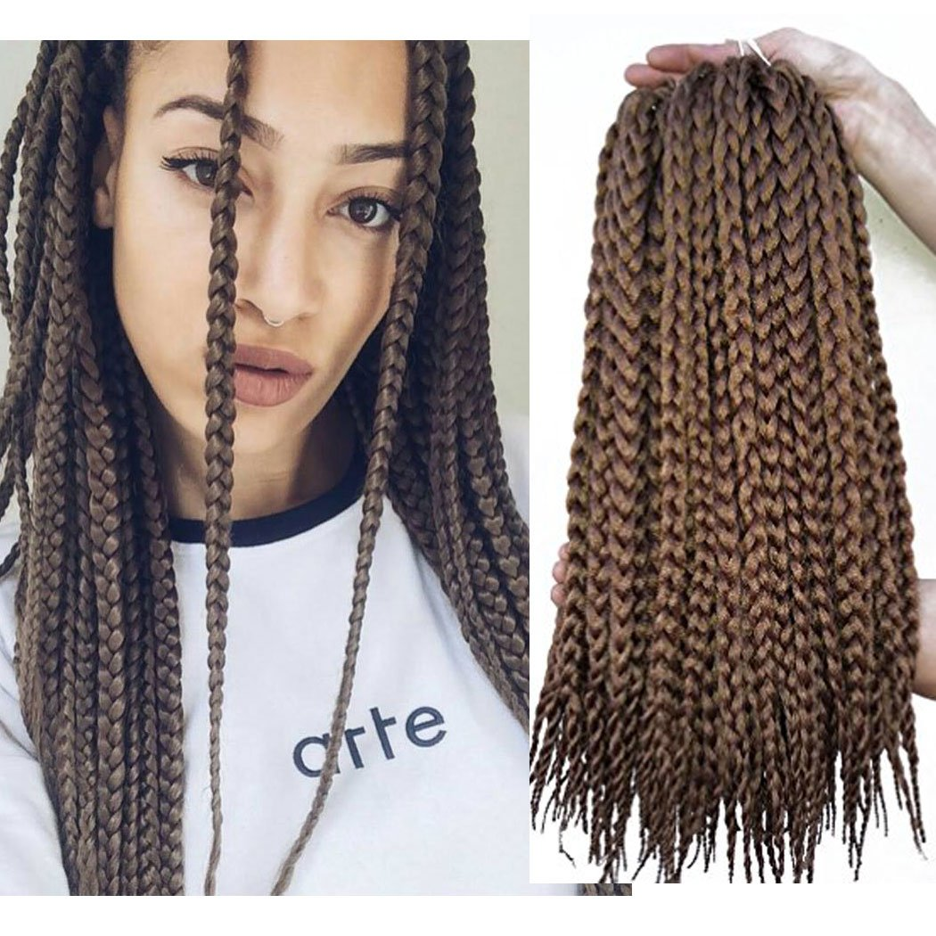Amazon Vrhot 6packs 18 Box Braids Crochet Hair Small