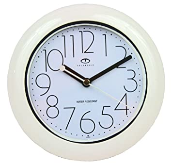 Water Resistant Wall Clock with Quiet Sweep Movement Amazoncouk