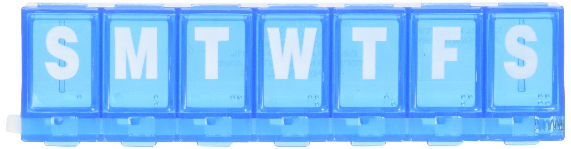 Ezy Dose 7 Day Locking Pill Reminder Small (4.75 x 1.25 x 0.75 inches) (Pack of 3)