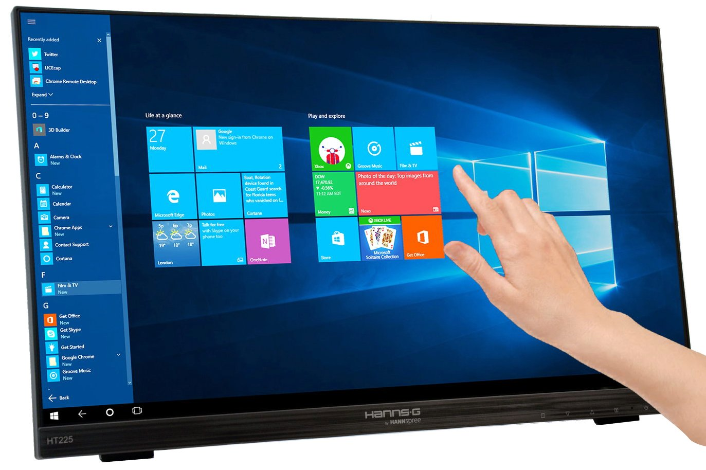 multi-touch screen monitor | hanns front