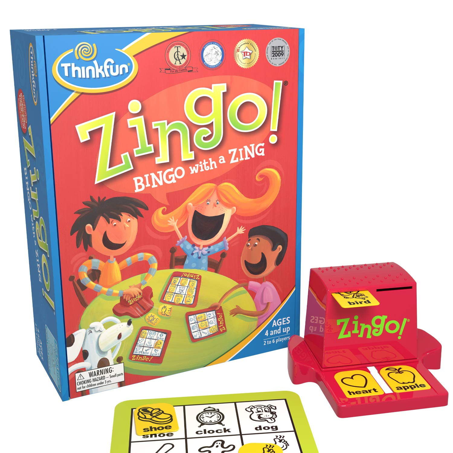 ThinkFun Zingo Bingo Award Winning Game for Pre-Readers and Early Readers Age 4 and Up - One of the Most Popular Board Games for Preschoolers and Their Families by Think Fun