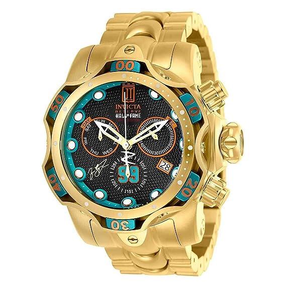Invicta reserva hombres de 52 mm JT Hall of Fame Venom edición limitada Swiss cronógrafo reloj de pulsera de acero inoxidable: Invicta: Amazon.es: Relojes