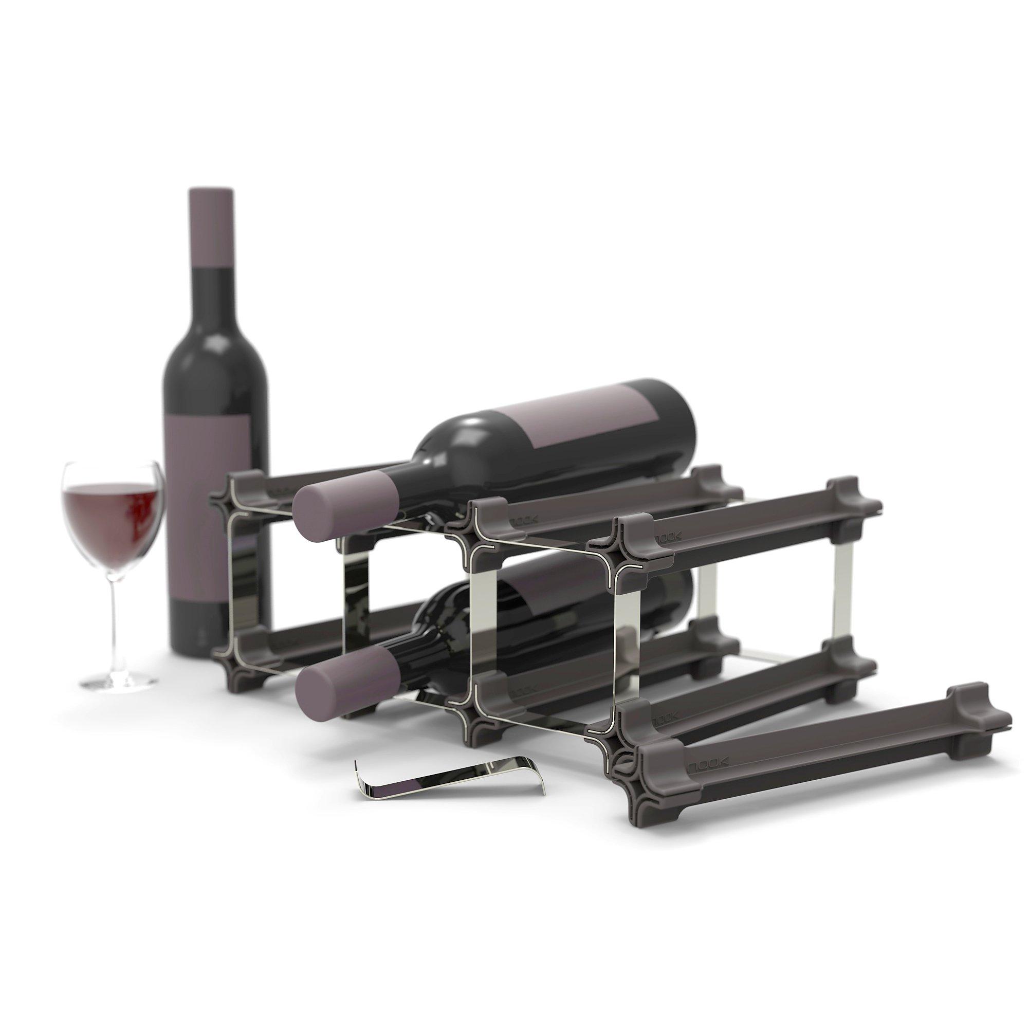 Nook Wine Rack Medium Kit 25 - Bottle Rack with Modular System - Practical Wine Rack Bottle Holder by NOOK Weinregal