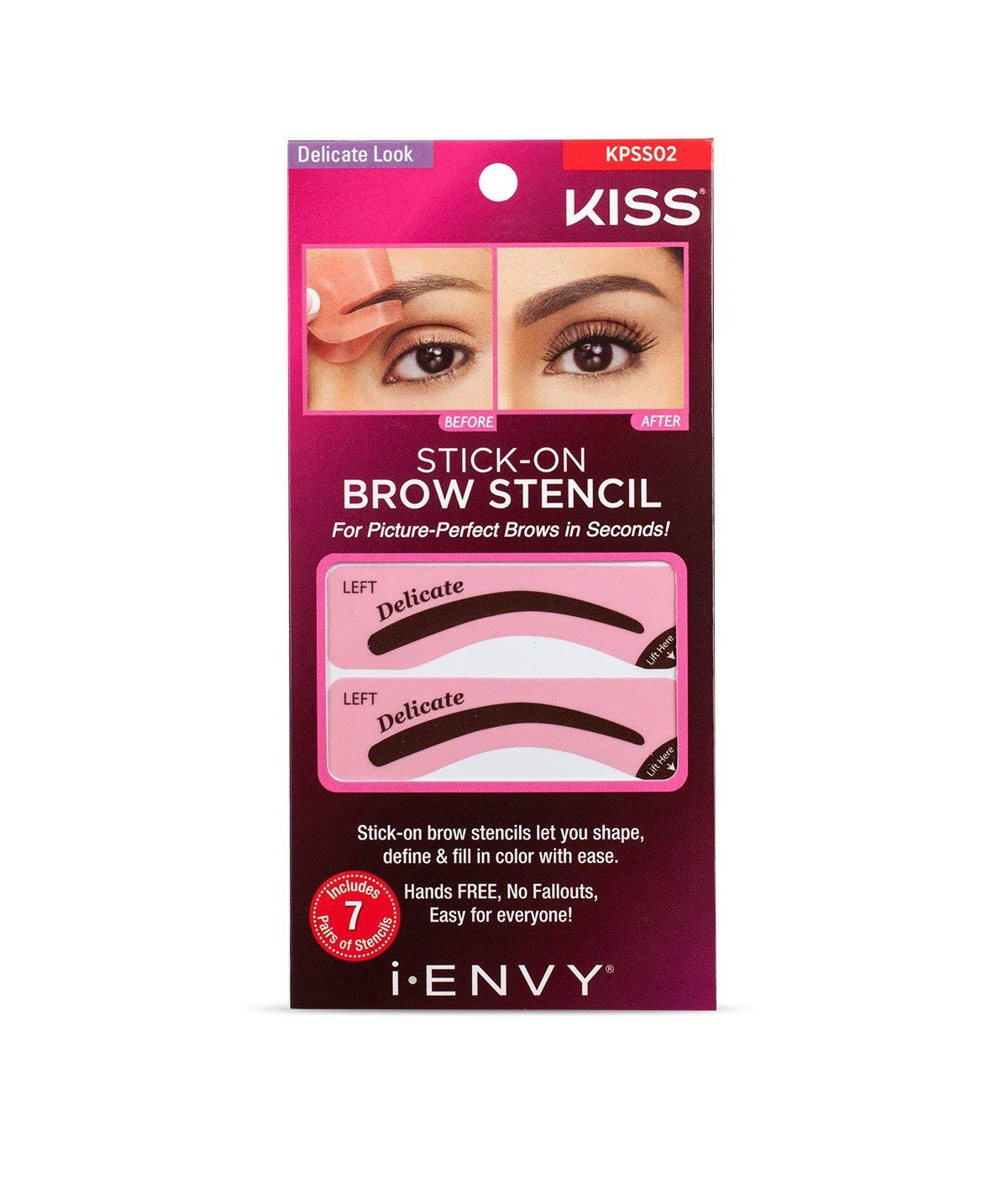 i-Envy by Kiss Stick-On Brow Stencil (KPSS02 Delicate Look)