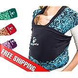 Protege tu espalda y ahorra 2h al día con el fular portabebés de Babypeta, perfecto para mamás activas. Fácil de atar, ayuda a crear lazos para bebés prematuros, recién nacidos y lactantes - AZUL
