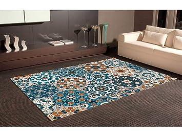 Oedim Tapis Carpette En PVC Motifs Hexagonal Imitation Carreaux - Faience cuisine et tapis 150 x 200