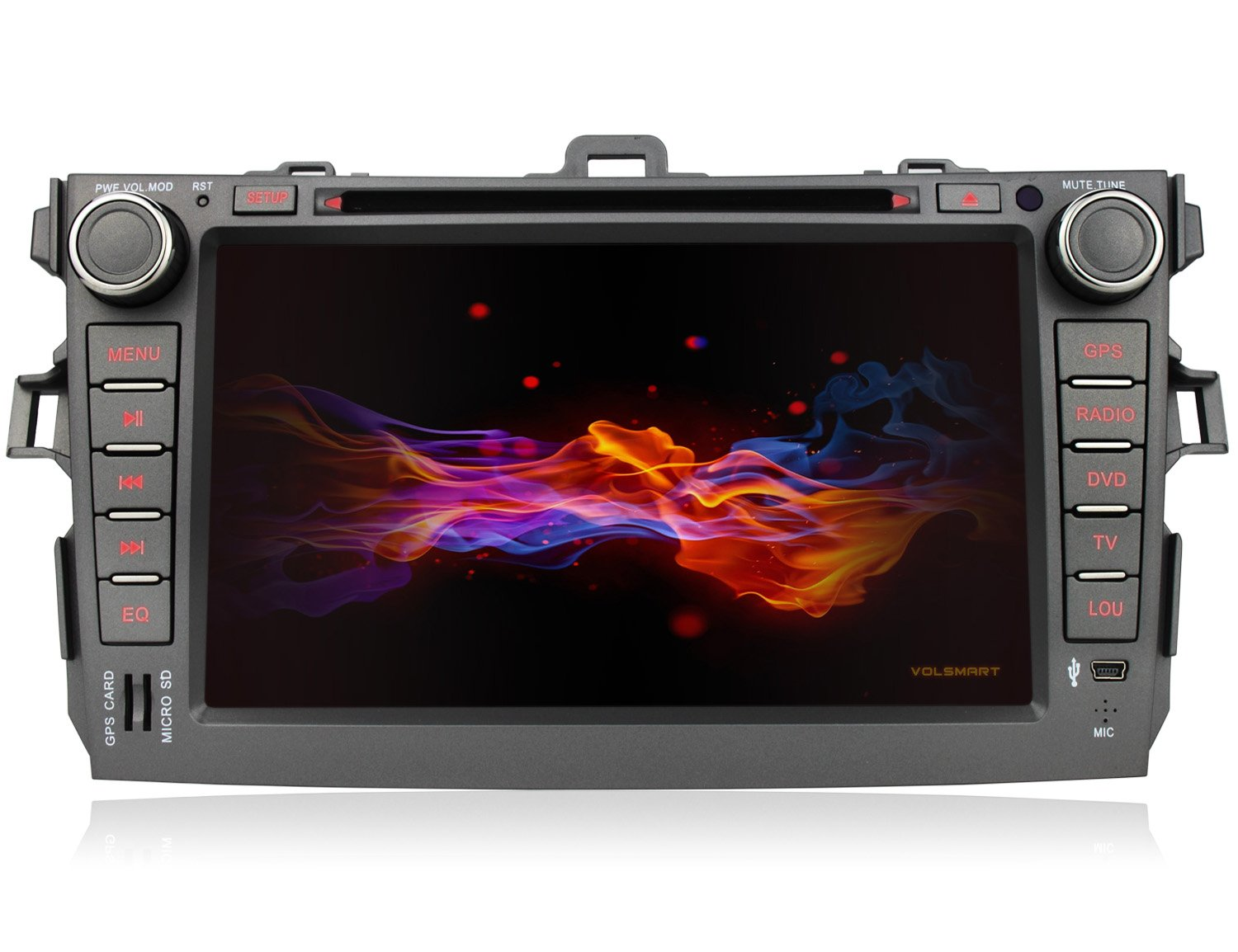 8-Cores Android Car DVD GPS for Toyota Corolla 2007-2011 with 2GB RAM 32GB ROM High Speed CPU Chipset Rockchip PX5 1024x600 Capacitive Touch Screen (8 Cores 2GB RAM 32GB ROM)