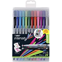 BIC Intensity Fineliner Medium Fine Point Pens, 0.4-1.0mm – Set of 24 Markers, Reusable Pack – Fashion Colours, No Bleed for Writing, Adult Colouring
