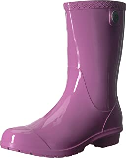 90acbf13224 Amazon.com | UGG Women's Sienna Rain Boot, Blue Aster, 5 M US | Mid-Calf