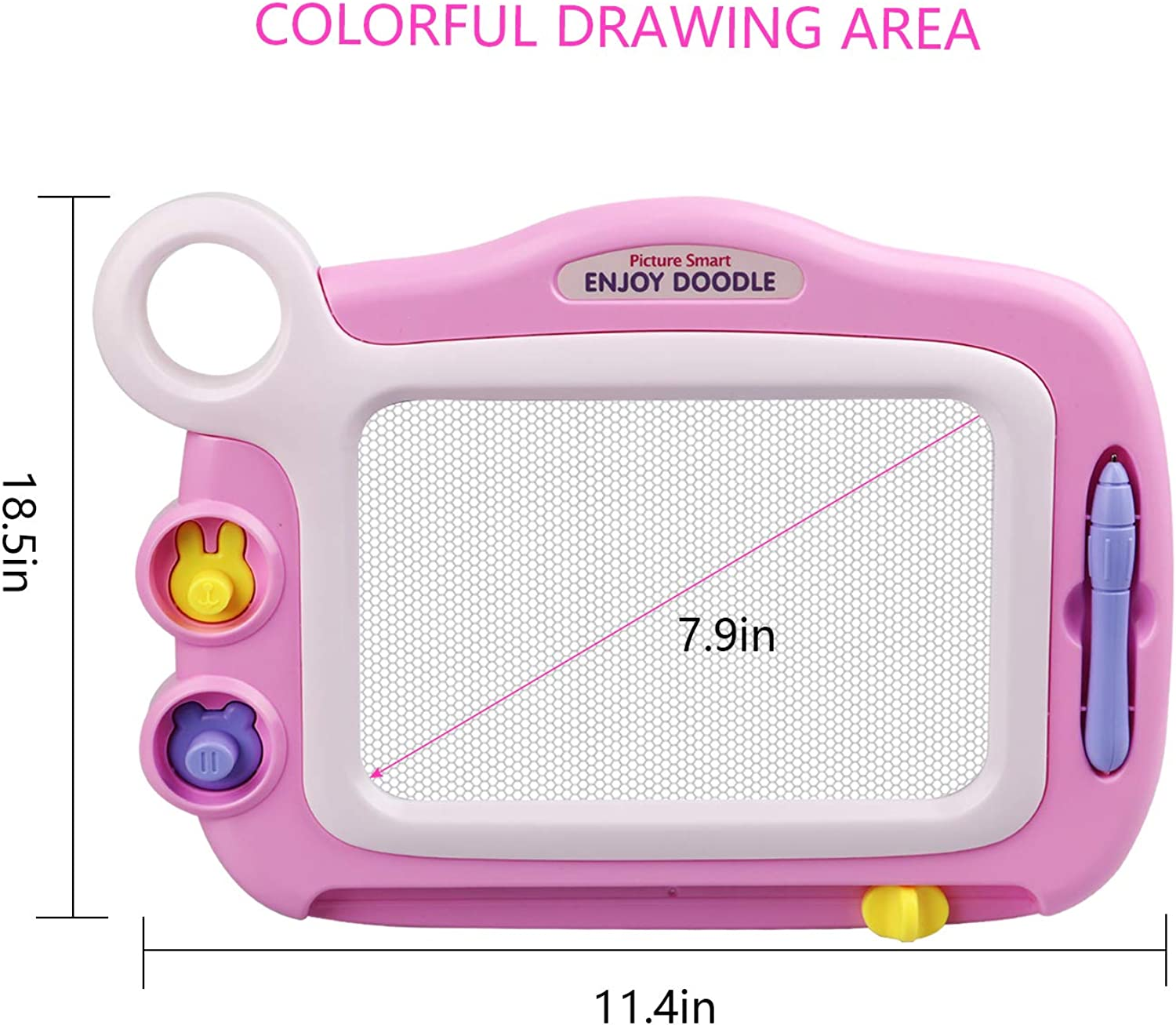 Drawing Pad for Boy and Girls Age 3 4 5 Erasbale Magnetic Drawing Board Kids Gift Indoor Educational Toy Four Colors Selections