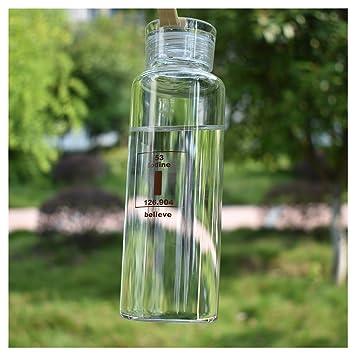 Botella de agua de vidrio para bebidas y exprimidor uso juntas de silicona con silicona Carrying