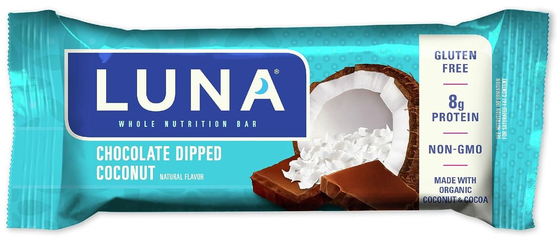 Amazon.com: LUNA BAR - Gluten Free Bar - Chocolate Dipped Coconut ...