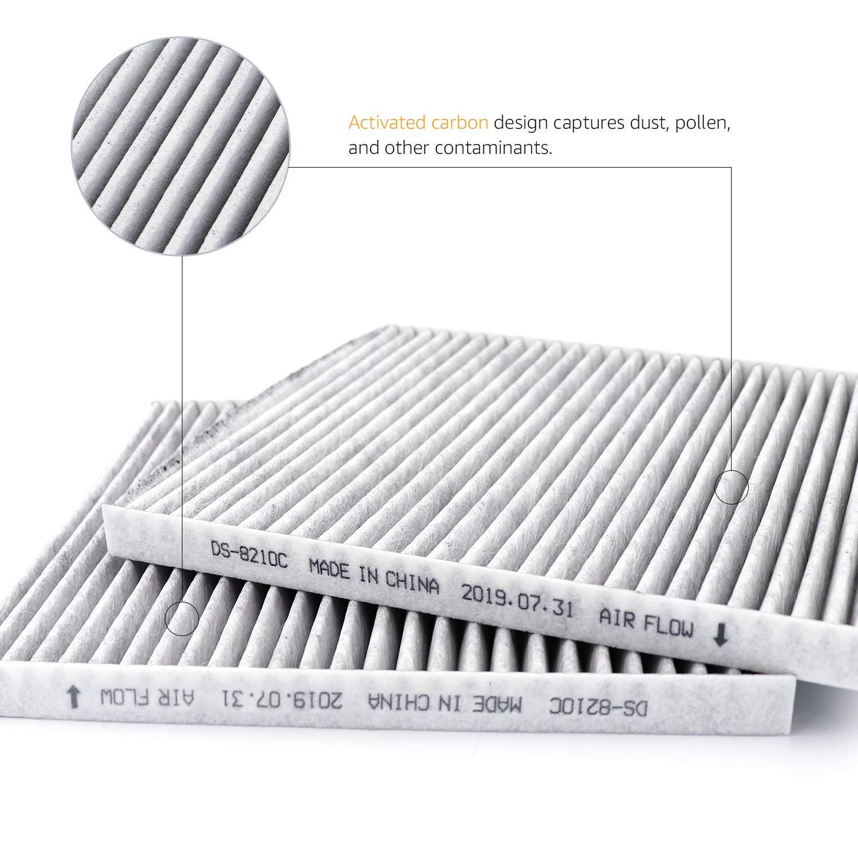 Basics 22,6 x 20,2 x 1,7 cm 2 unidades Filtro de aire para veh/ículos