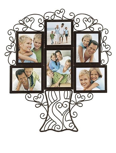 Malden Ironworks Family Tree collage Frame, 6 Opening: Amazon.co.uk ...