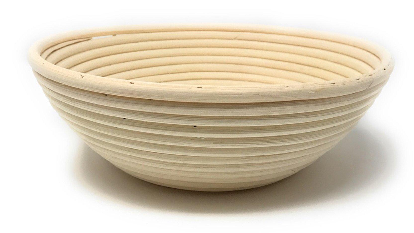 3-Piece Set: Emile Henry Ceramic Round Stewpot Dutch Oven Bread Pot, Burgundy, 8 inch Round Banneton Bread Rising Basket, Fitted Cotton Liner - Bundle by Bundle (Image #4)