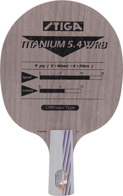 STIGA(スティガ) 卓球 ラケット チタニウム 5.4 WRB 2091-XX B074N7F12S  中国式ペングリップ(65)