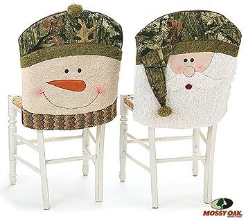 Amazoncom Mossy Oak Santa and Snowman Camouflage Christmas Chair