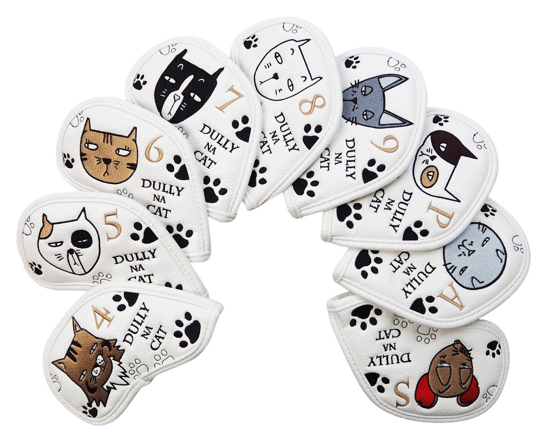 DULLY NA CAT(ダリーナキャット) ヘッドカバー DULLY NA CAT ゴルフアイアンカバー【9pcs SET】 ユニセックス DN-IC