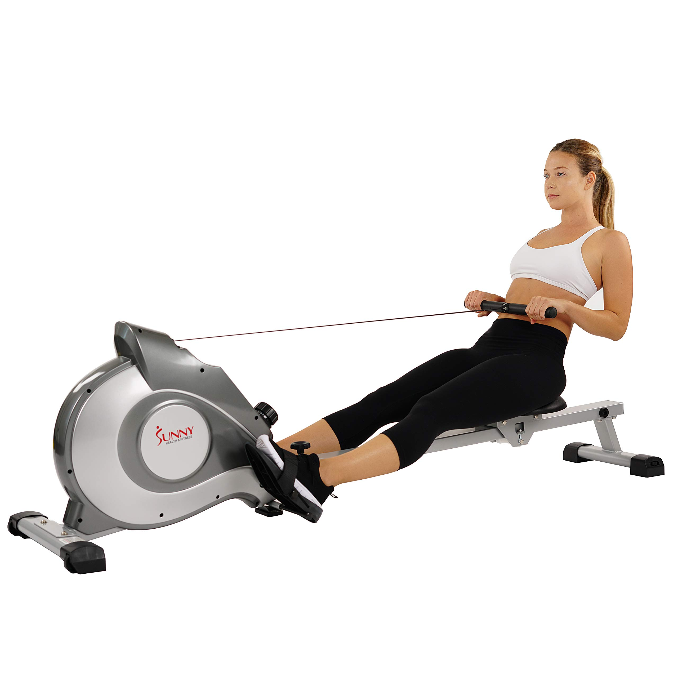 Sunny Health & Fitness Magnetic Rowing Machine with LCD Monitor by SF-RW5515 by Sunny Health & Fitness (Image #8)